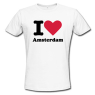 I love Amsterdam Tshirt and hoodie, custom hooded jacks and sweaters, CheapinAmsterdam.com